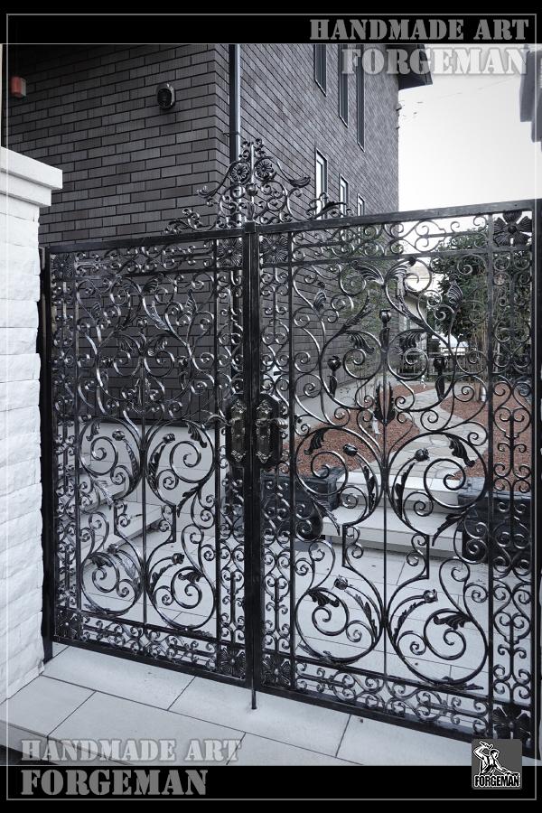 ロートアイアン門扉