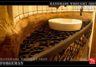 すてきなアイアンの洗面ボウル台