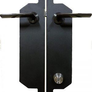 ロートアイアン,門扉,取っ手,電気錠