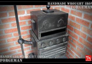鉄製,アイアン,郵便箱,表札,ブリキ,レトロ,ロボット