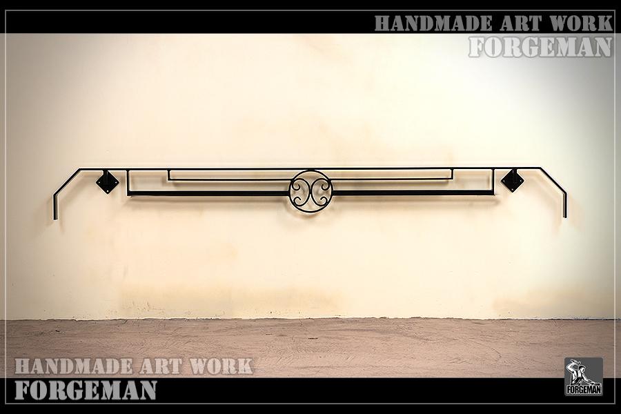 アールデコデザイン,壁付け手すり,手摺