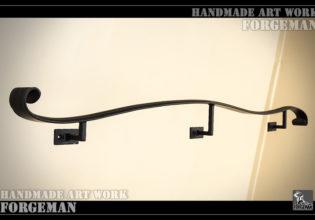 ロートアイアン,壁付け手摺り,手すり,制作メーカー,特注制作,セミオーダー