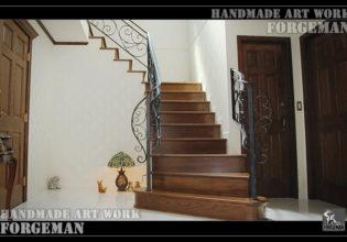 階段手摺,輸入住宅,ロートアイアン,フェンス
